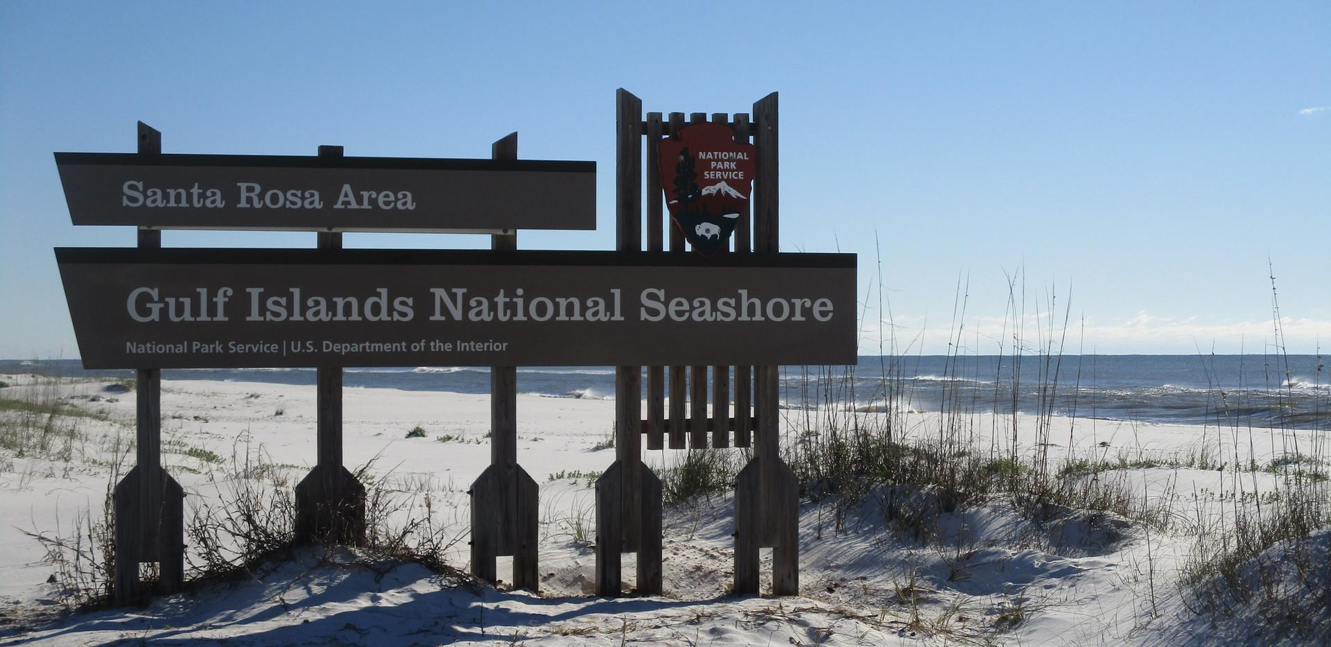 Beautiful view along national seashore