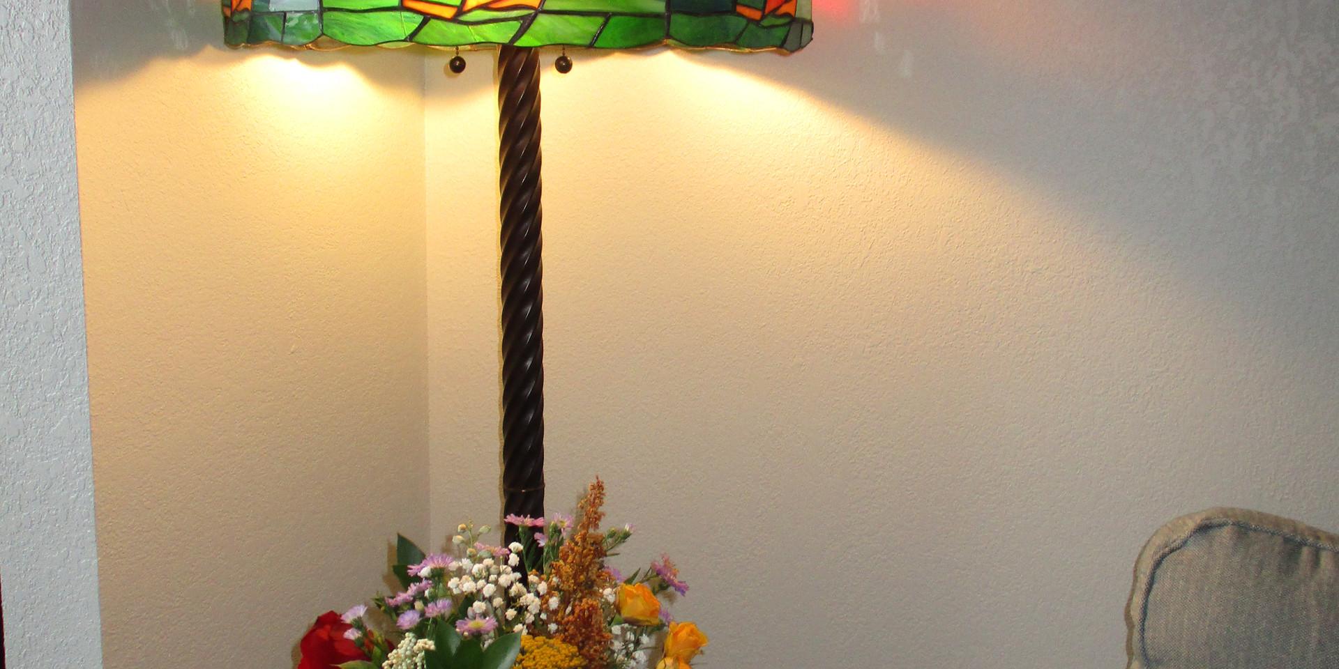 Beautiful handmade lamp