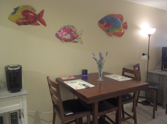 Dining area and coffee station
