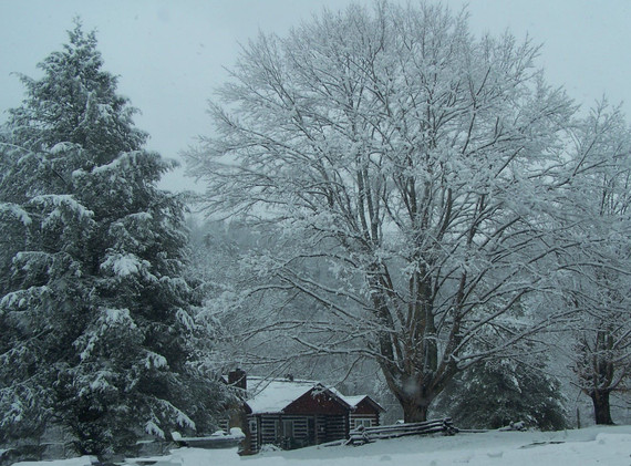 Cabin in the beautiful snow!