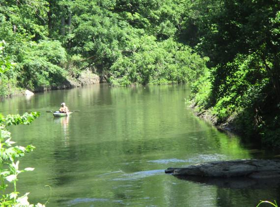Bluestone River on property