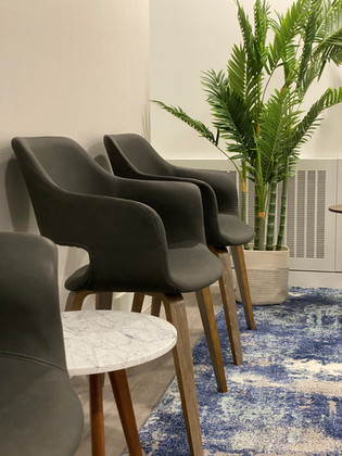 We've created a comfortable and calming seating area for you.