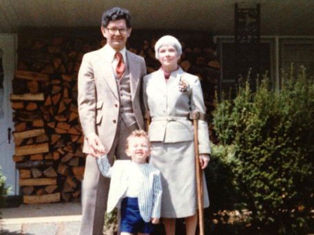 Dr. Kiefer with his grandparents.