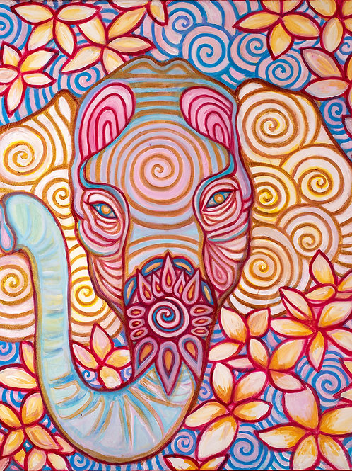 Elephant on Canvas