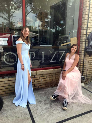 Lily and Lily, our Mojo prom queen graduates.