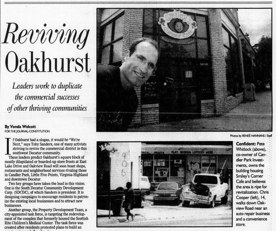 Mojo owner Pete played a major role in turning the neighborhood around in the late 1990s.