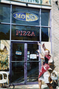 Mr. Pete-zza celebrates the opening of Mojo.