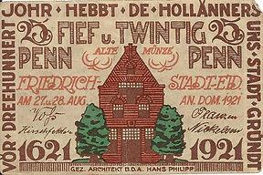 25 pfennig 1921 Friedrichstadt recto.jpg