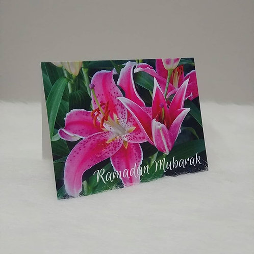 Ramadan Kareem Lily Greeting Card