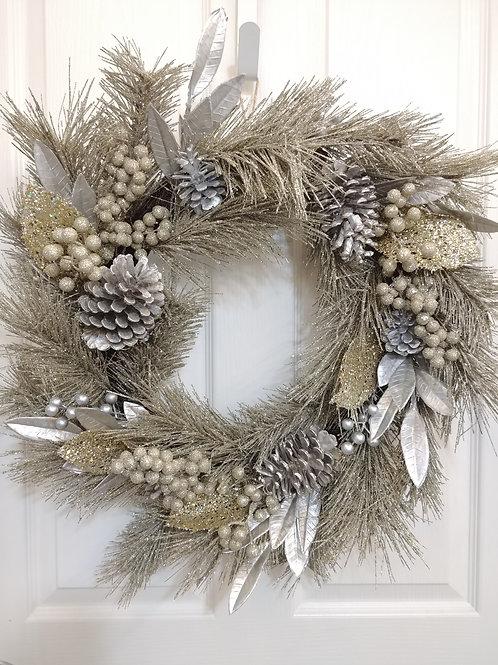 Champagne Gold Pine Wreath