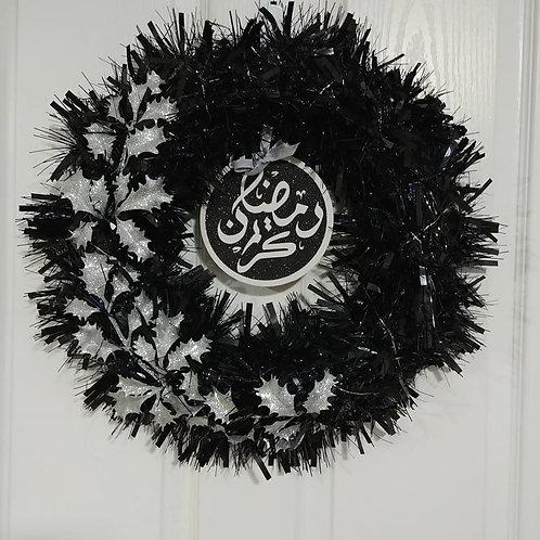 Black/Silver Reversible Wreath