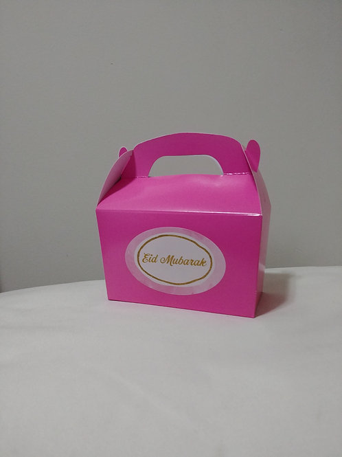 Pink Eid Mubarak Treat Boxes