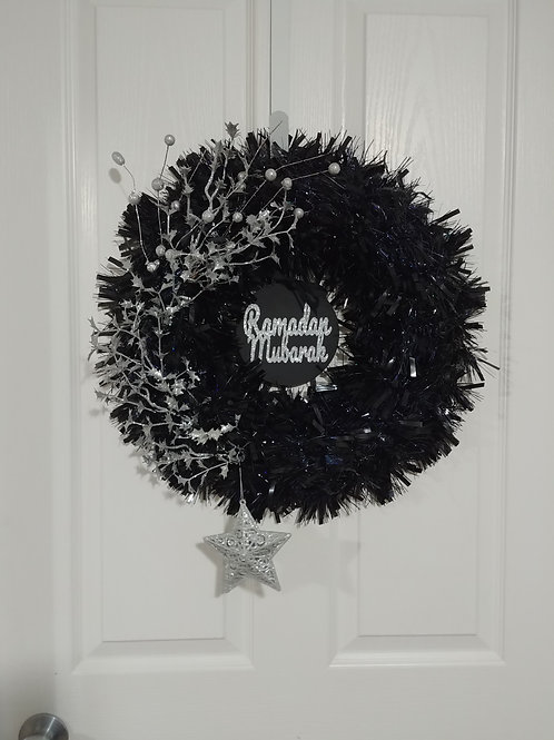 Black/Silver Reversible Wreath