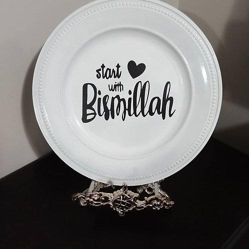 White Decorative Plate
