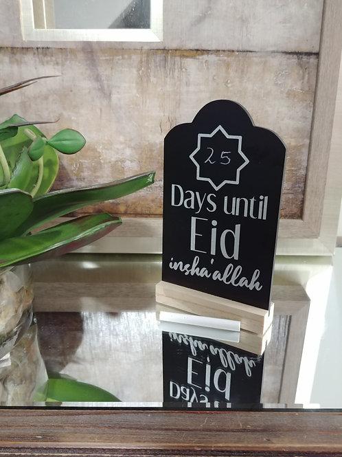 Countdown to Eid Silver Chalkboard