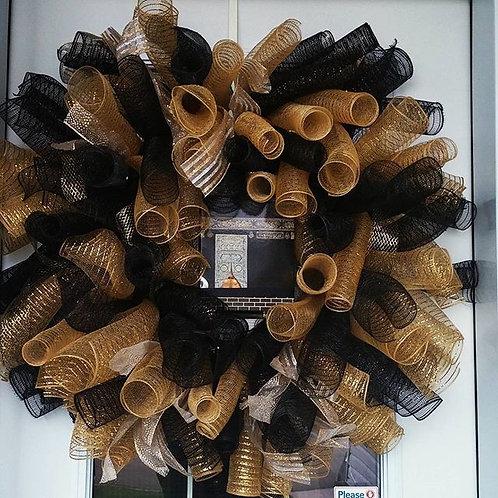Black/Gold Kaaba Wreath