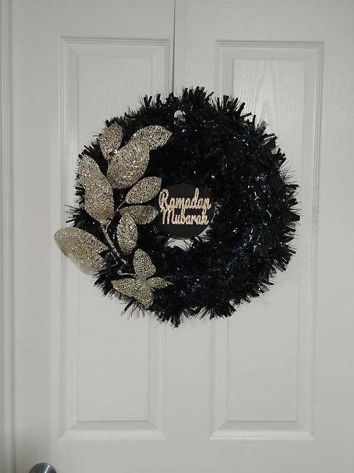 Black/Rose Gold Reversible Wreath