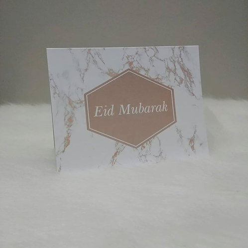 Eid Mubarak Marble Greeting Card