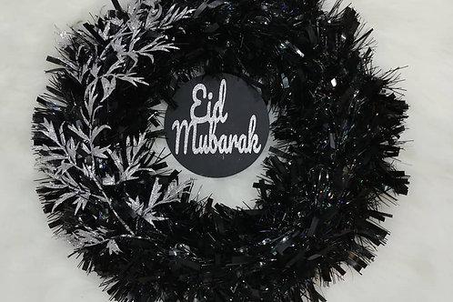 Black/Silver Wreath