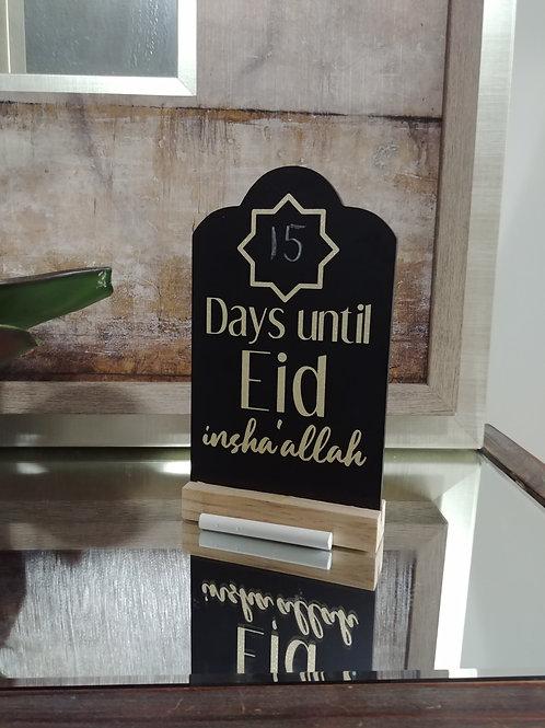 Countdown to Eid Gold Chalkboard