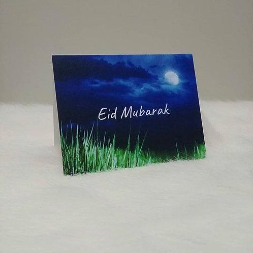 Eid Mubarak Moon Greeting Card