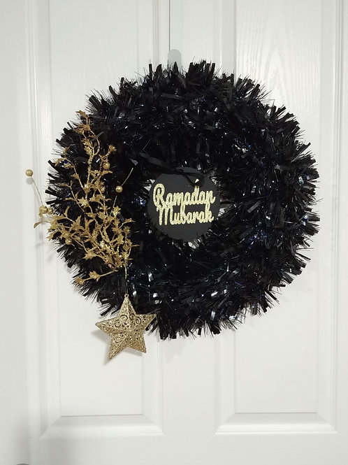 Black/Gold Reversible Wreath