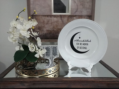 Month of Blessings Decorative Plate
