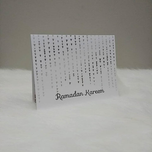 Ramadan Kareem Hearts Greeting Card
