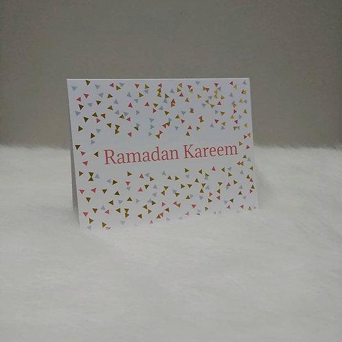 Ramadan Kareem Confetti Greeting Card