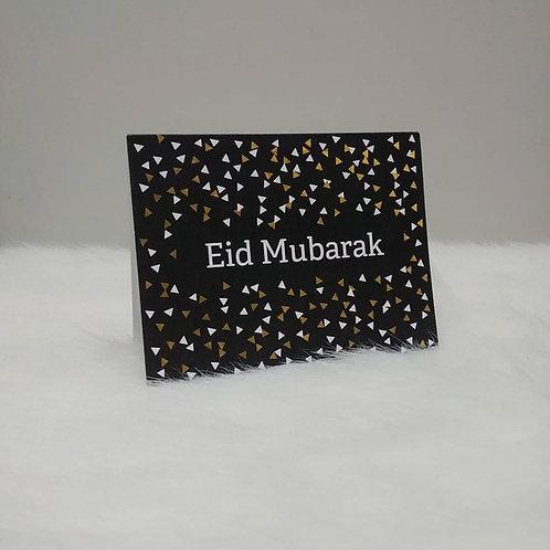 Eid Mubarak Black Greeting Card
