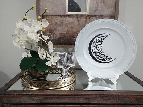 Arabic Ramadan Kareem Crescent Moon Decorative Plate