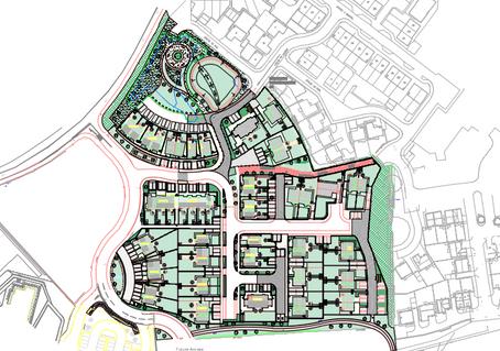 Glasdir proposed site plan