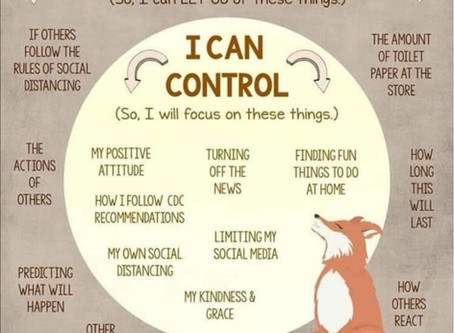 Let's focus on what we can control and influence.
