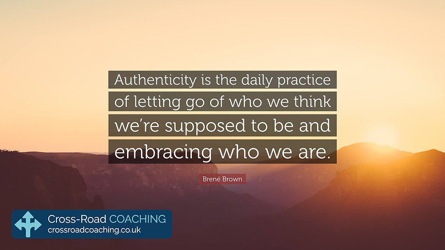 Authenticity is the daily practice of letting go of who we think we're supposed to be and embracing who we are. - Brene Brown