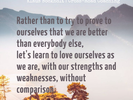 Let's love ourselves as we are!