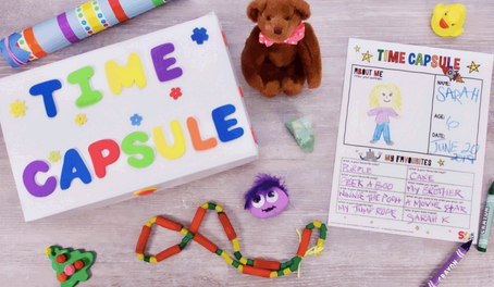 Make a New Year's Time Capsule for Some Speech & Language Fun at Home