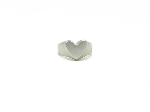 Imperfect Heart Signet Ring