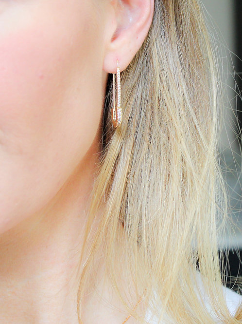 Salma Safety Pin Earrings
