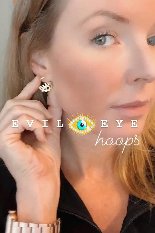 Evil Eye Mini Hoops
