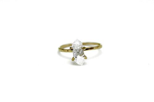 Herkimer Diamond Quartz Ring