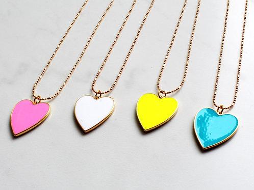 Neon Heartstrings Necklace