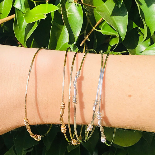 Trio Bangles in Sterling Silver