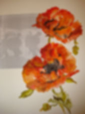 REMEMBRANCE POPPIES - named by artist.jp