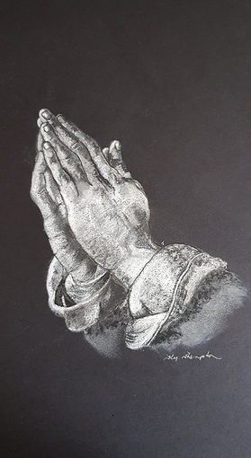 PRAYING HANDS gifted to Father Paul who