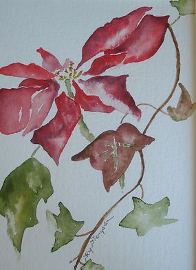 POINSETTIA CHARITY CARD IF YOU CARE SHAR