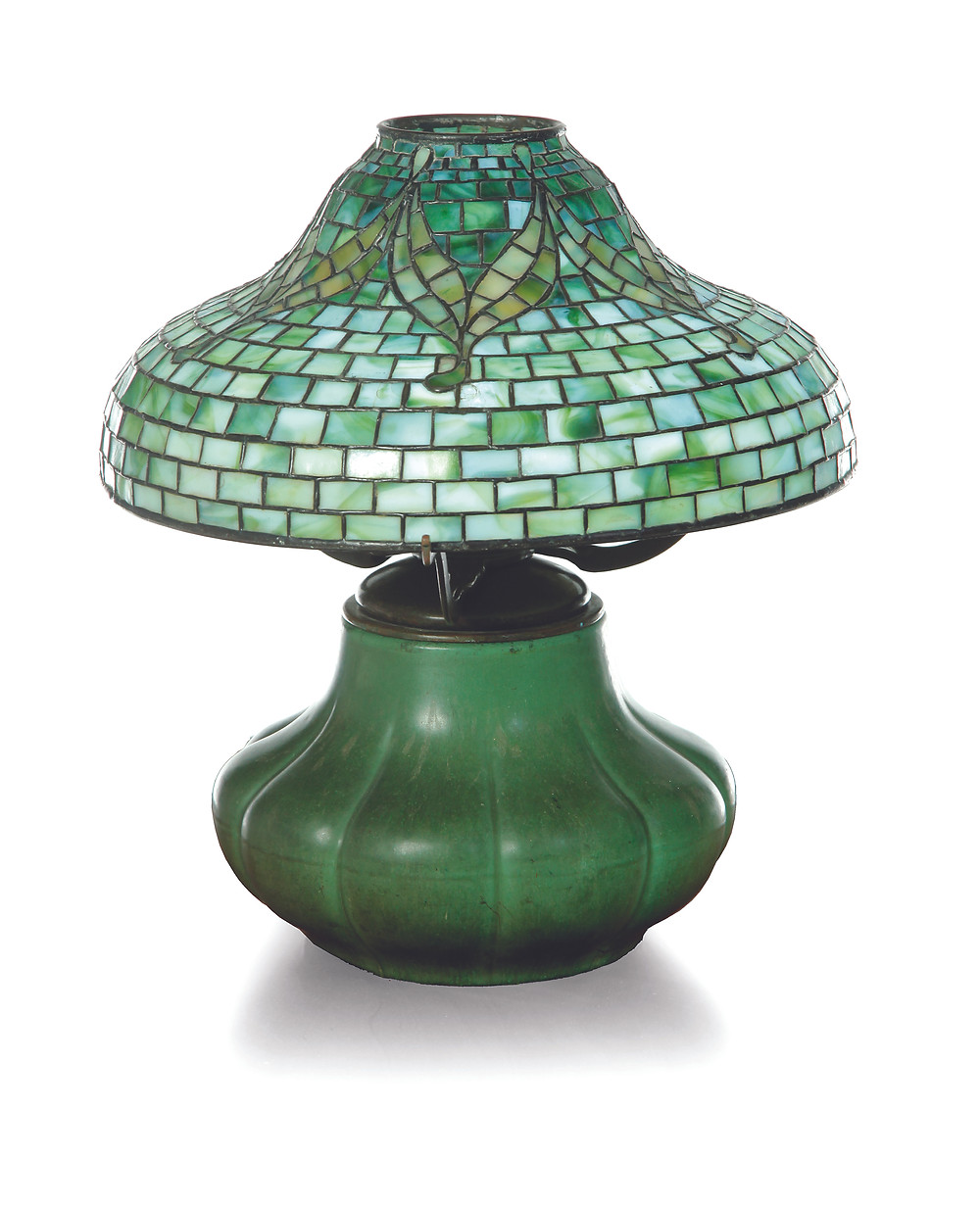 Lot 526: Tyler Tiffany table lamp (to be sold at Garth's January 16, 2016).