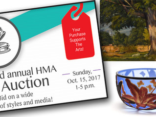 HMA & Garth's Partner for Art Auction Fundraiser on October 15
