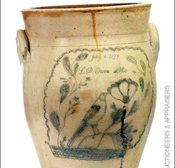 Ohio Finds! Fascinating Objects  from our Past: 1839 Stoneware Crock