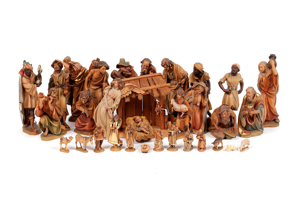 Anri Italian carved nativity set sold $3,750 April 25, 2020 at Selkirk Auctioneers (St. Louis, MO)