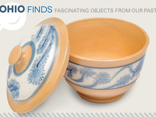 Ohio Finds! Mocha Ware with Blue Seaweed Design